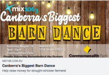 Canberra's Biggest Barn Dance 18 August 2018 Mix 106.3